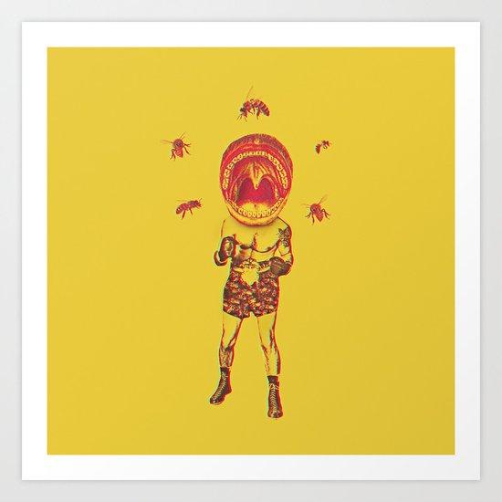 Bee Brave Art Print