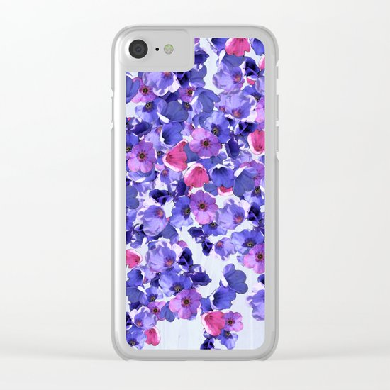In the land of grey and pink Clear iPhone Case