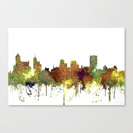 Memphis, Tennessee Skyline - Safari Buff Canvas Print