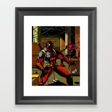 The Amazing Spider-Pool Framed Art Print