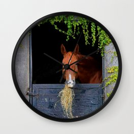 Home is where the Horse is Wall Clock