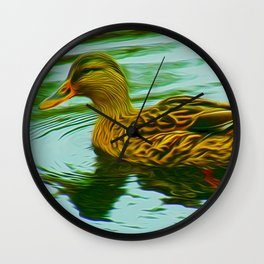 Lady Duck (Digital Art) Wall Clock