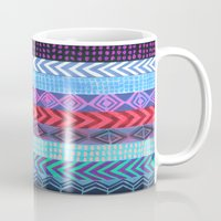 peru Mugs featuring PATTERN {Peru Stripe} by Schatzi Brown