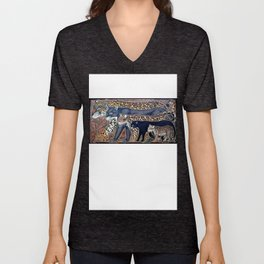 Big cats of Costa Rica Unisex V-Neck