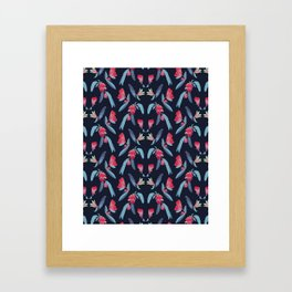 Pom Blossom in Winter Framed Art Print