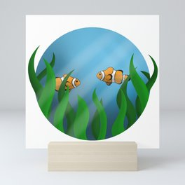 Clownfish Amongst the Seaweed Mini Art Print