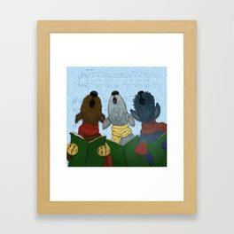 Yappy Howlidays from the Three Terriers Framed Art Print