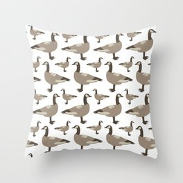 A Gaggle of Geese Throw Pillow