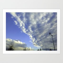 Clouds As Far As The Eye Can See Art Print