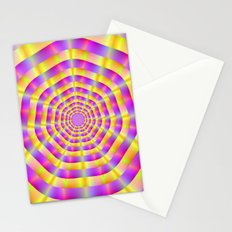 Pink and Yellow Rings Stationery Cards