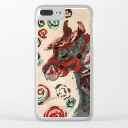 Spirit Horse Clear iPhone Case
