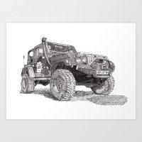 jeep Art Prints featuring Jeep by Rik Reimert