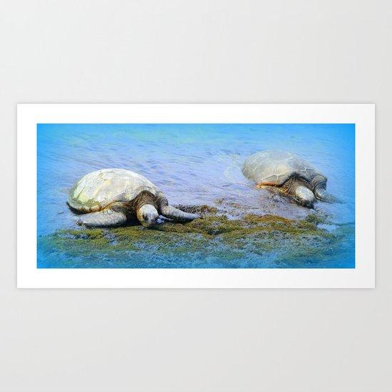 Giant Sea Turtle Art Print