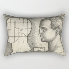 Female head and drawing in proportion to schedule,1542 Rectangular Pillow