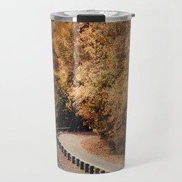 Riverside Drive in Autumn - Landscape Travel Mug
