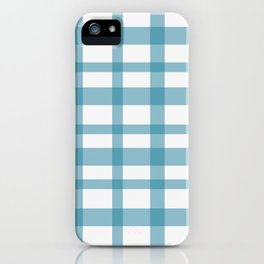 Blue checkered iPhone Case