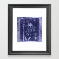 floral cyanotype Framed Art Print