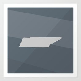 Tennessee State Art Print