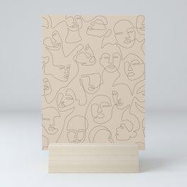 She's Beige Mini Art Print