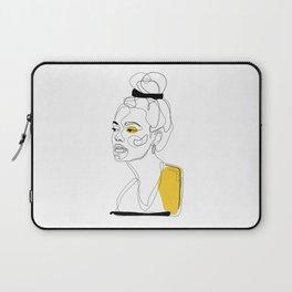 Yellow Sketch Laptop Sleeve