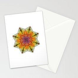 octagonal flowers Stationery Cards