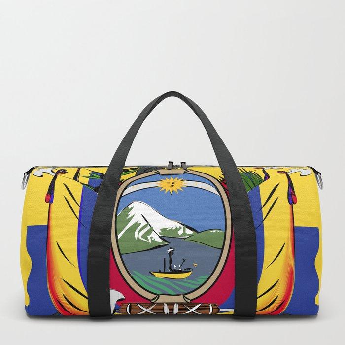Ecuador flag emblem Duffle Bag