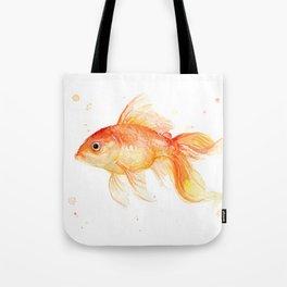 Goldfish Watercolor Fish Tote Bag