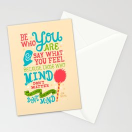Be Who You Are Stationery Cards