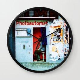 photoautomat Wall Clock
