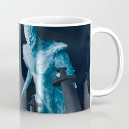 Viking woman against the Ice Giant Coffee Mug