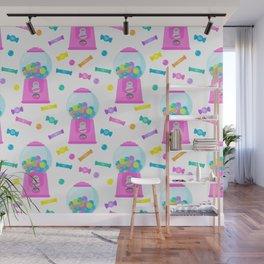 Pink Candy Dispenser – Rainbow Candy Shop Pattern Wall Mural
