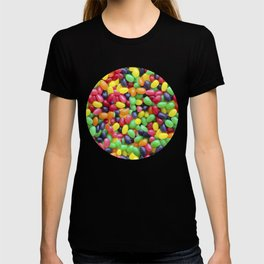 Jelly Bean Candy Photo Pattern T-shirt