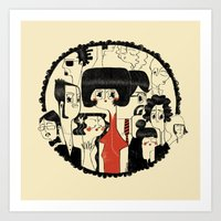 it crowd Art Prints featuring Crowd by Pigologist