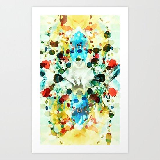 Wibbly wobbly Art Print