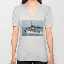 Coast Guard and Liberty Unisex V-Neck