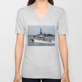 Coast Guard and Liberty Unisex V-Neck