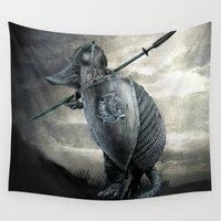 terry fan Wall Tapestries featuring Armadillo by Eric Fan & Viviana Gonzalez by Viviana Gonzalez
