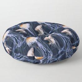 Jellyfish blue Floor Pillow