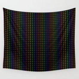 Rows of Rainbow Flowers Wall Tapestry