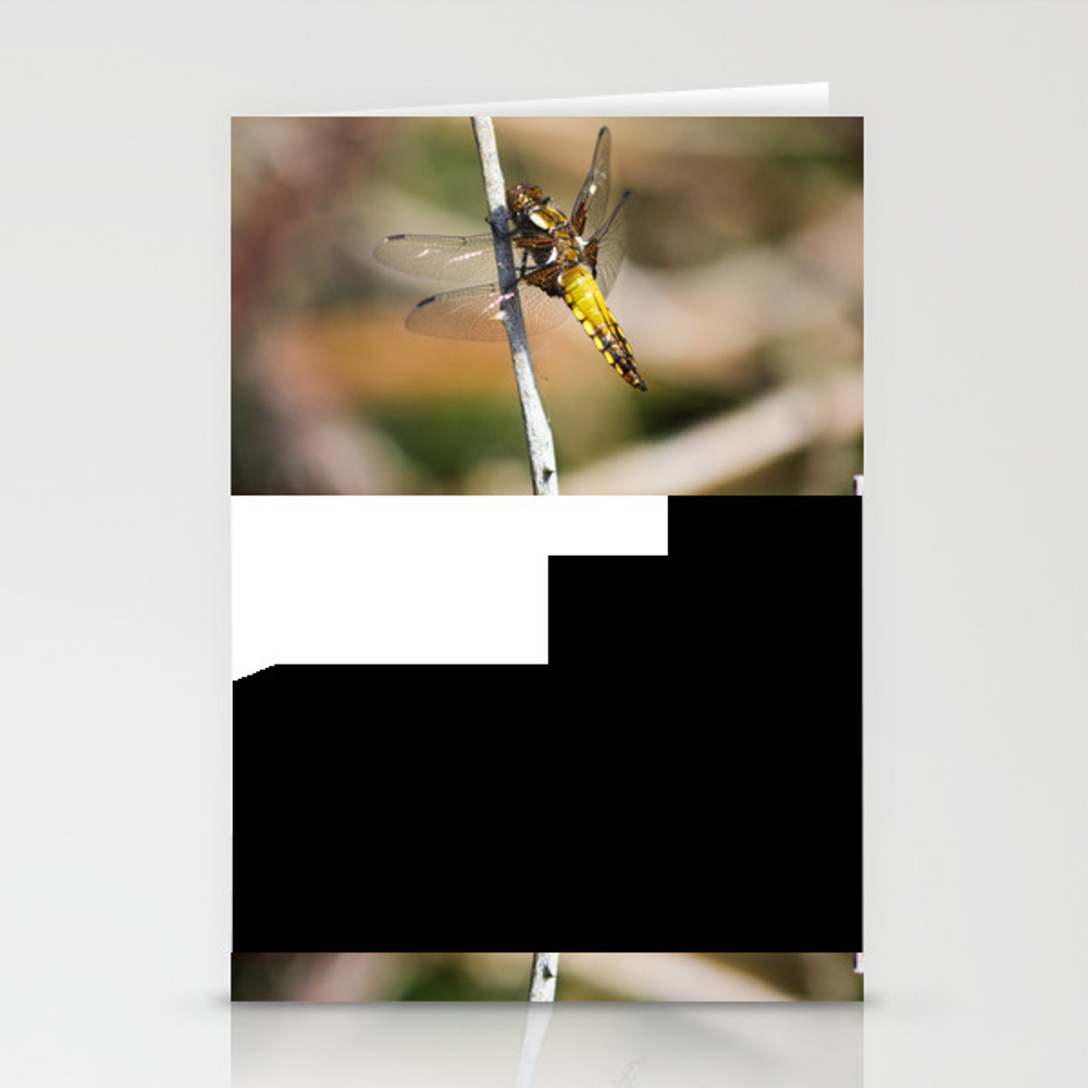 Yellow Dragonfly Stationery Cards by Gemmalfknight CRD8677110