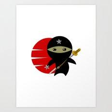 NINJA STAR Art Print