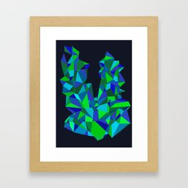 Triangle Abstract Framed Art Print