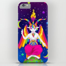 1997 Neon Rainbow Baphomet iPhone Case