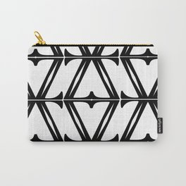 Black & White Fretwork Carry-All Pouch