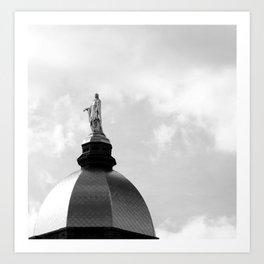 Golden Dome (B&W) Art Print