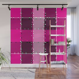 Licorice Bytes, No.14 in Black and Pink Wall Mural