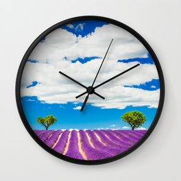 Provence lavender field in Valensole, France. Wall Clock