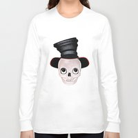 mad hatter Long Sleeve T-shirts featuring Mad Skull Hatter by Texnotropio