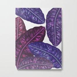 Tropical Leaves - Ultra Violet 1 Metal Print