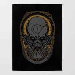Metal Disc Jockey Poster